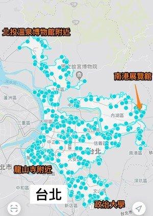 台北GoSHARE營運租借範圍