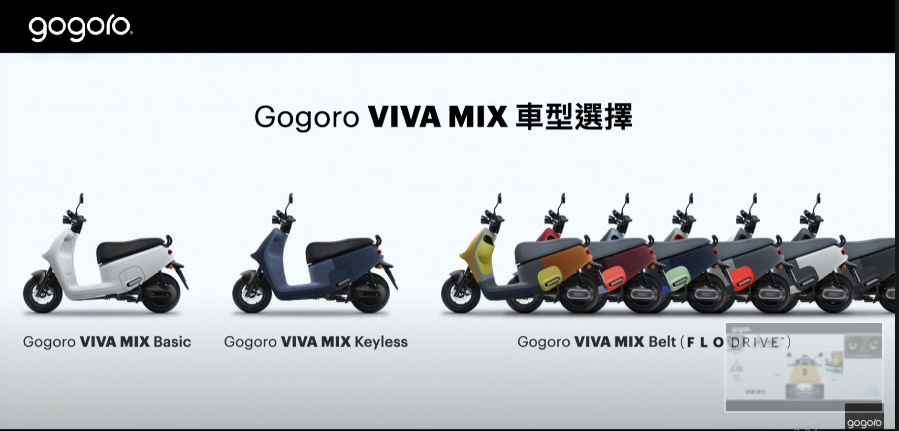 Gogoro VIVA MIX車款選擇